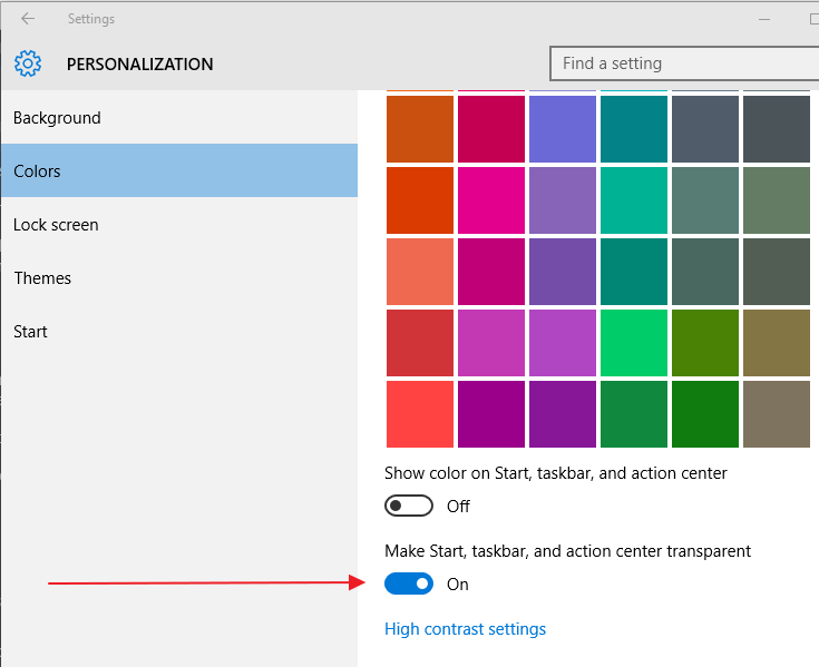 start-menu-transparency-colors