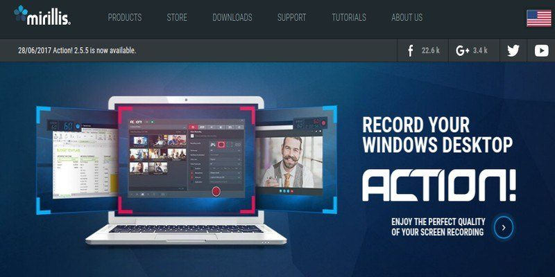Action! Screen Recorder: All-in-One Software for Screencasting, Game Recording, and Live Streaming on Windows