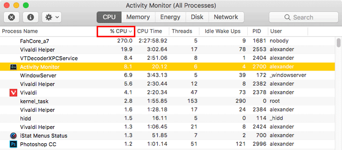 activity-monitor-sort-by-cpu-percentage