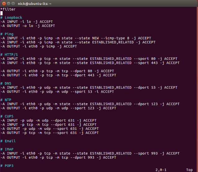iptables rules
