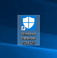 restore-windows-defender-old-ui-shortcut-created