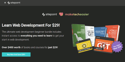 The Ultimate Web Development Beginner Bundle. Discount Ends in 48 hours.
