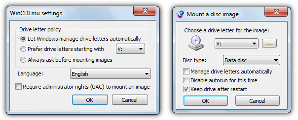 ISO mounting software