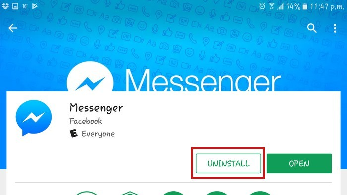 uninstall-messenger