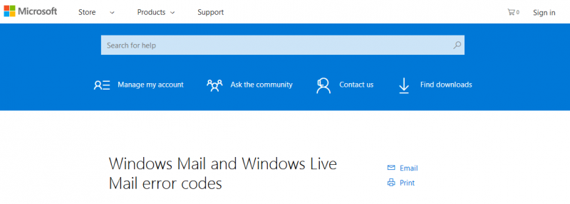 windows-live-mail-errors