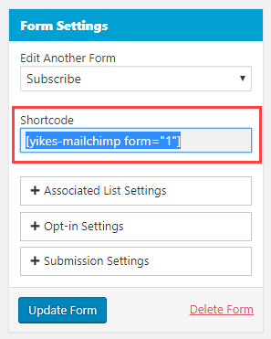 mailchimp-to-wordpress-form-shortcode