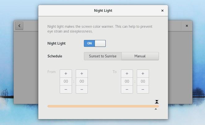 GNOME Night Light Configuration