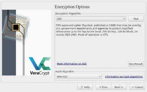VeraCrypt Select Encryption