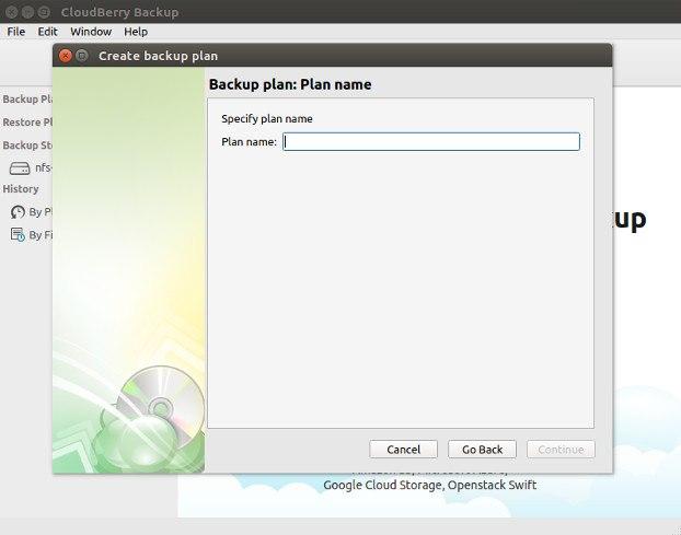 CloudBerry Create Backup