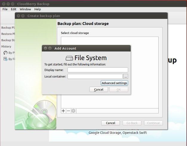 CloudBerry Local Storage