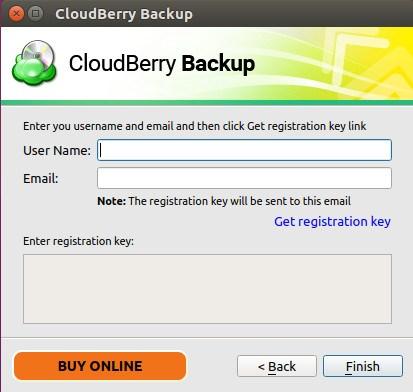 CloudBerry Backup Registration