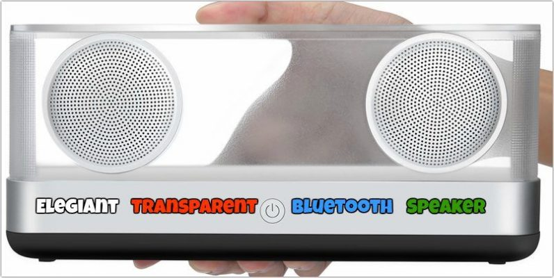 Elegiant Transparent Bluetooth Speaker with Super Bass Review