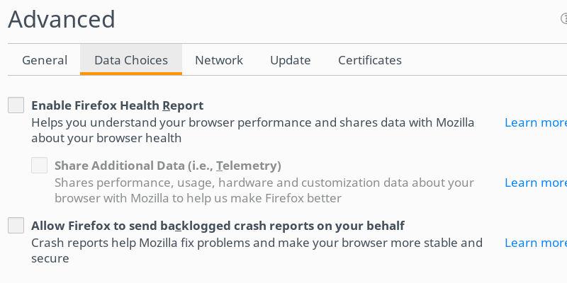 Firefox Data