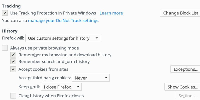 Firefox Privacy