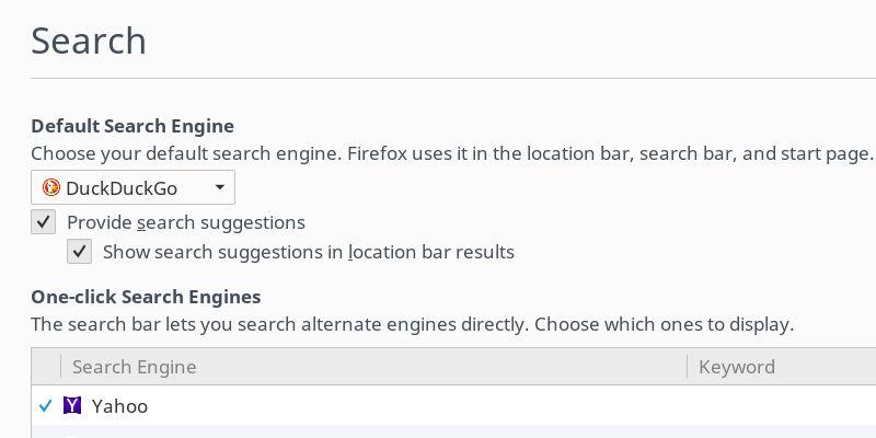Firefox Search