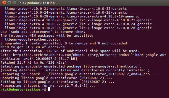 Install Google Authenticator Linux