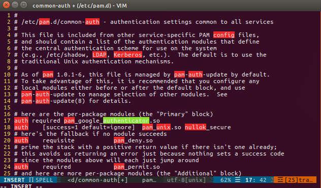 Linux Google Authenticator Configuration