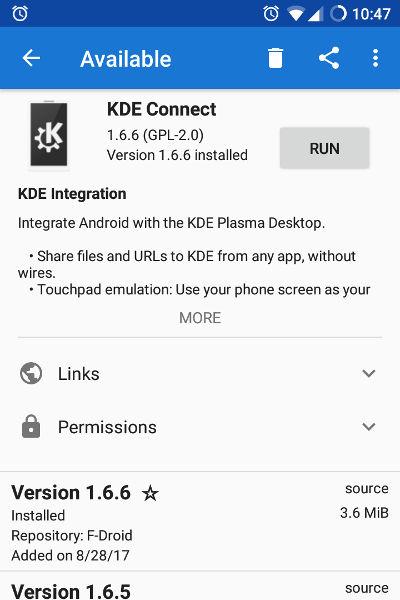 KDE Connect App F-Droid