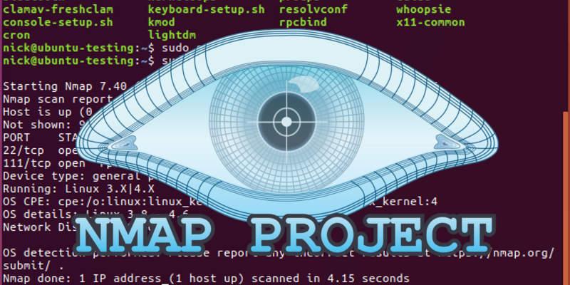 nmap commands linux