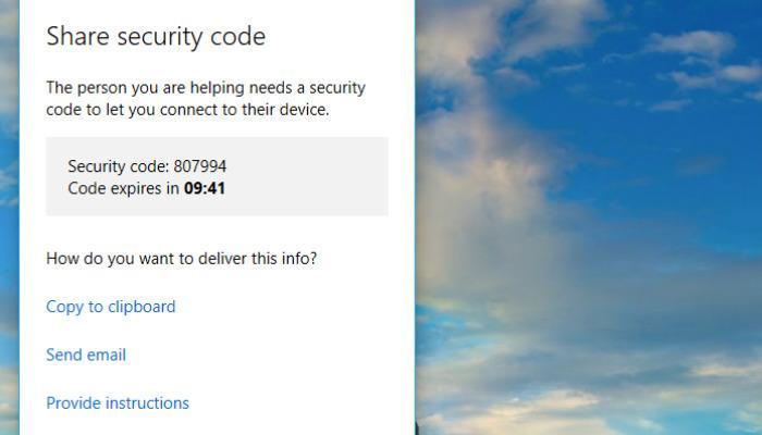 windows-quick-assist-code