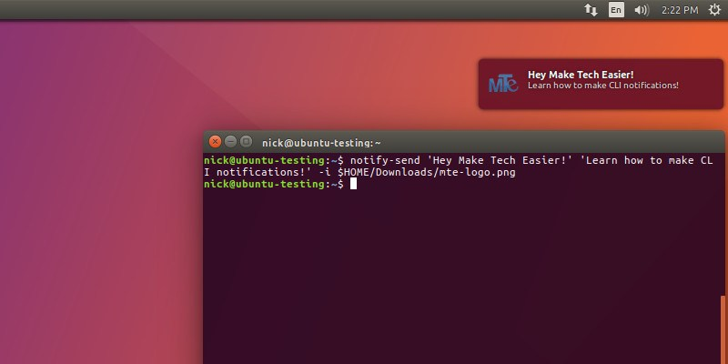 Get Desktop Notifications Fron The Linux Command Line