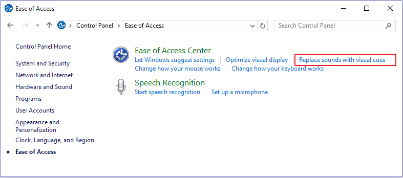 ease-of-access-center-menu