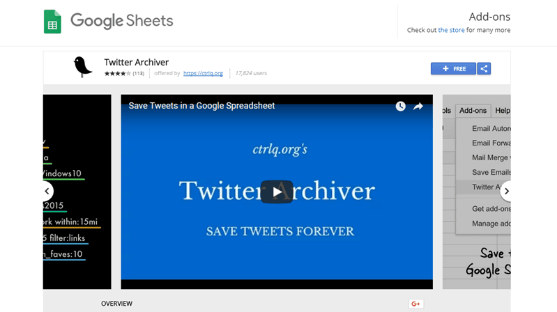 google-sheets-add-ons-twitter