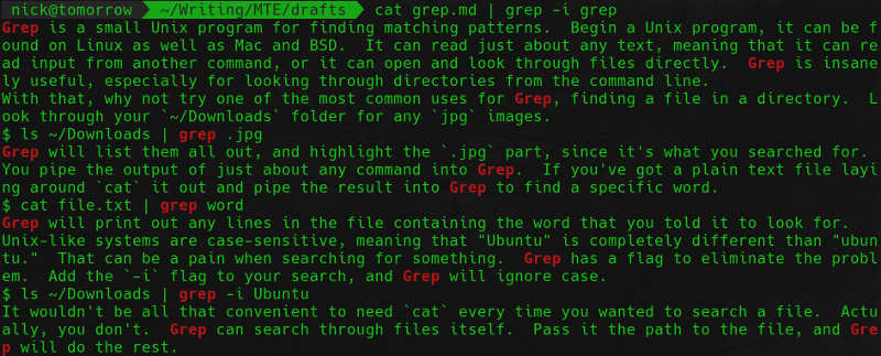 yo dawg i heard you like grep