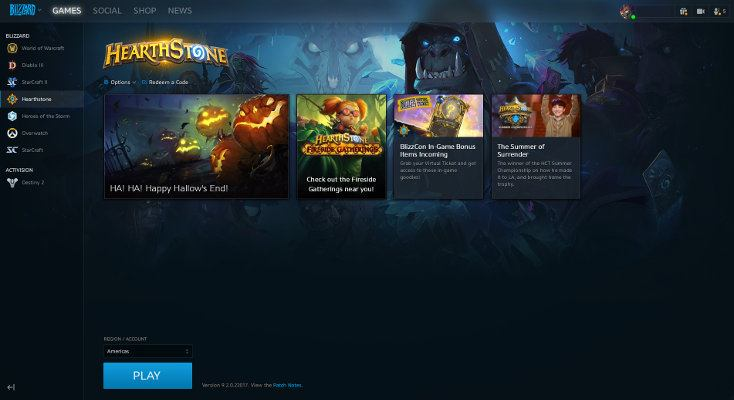 Hearthstone Installed Battle.net