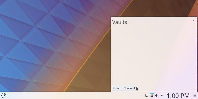 KDE Plasma Vault