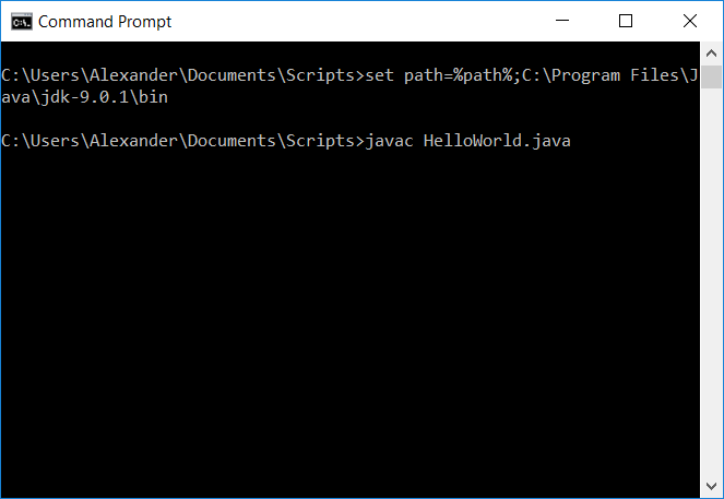 How to Run a Java Program from the Command Prompt - Make