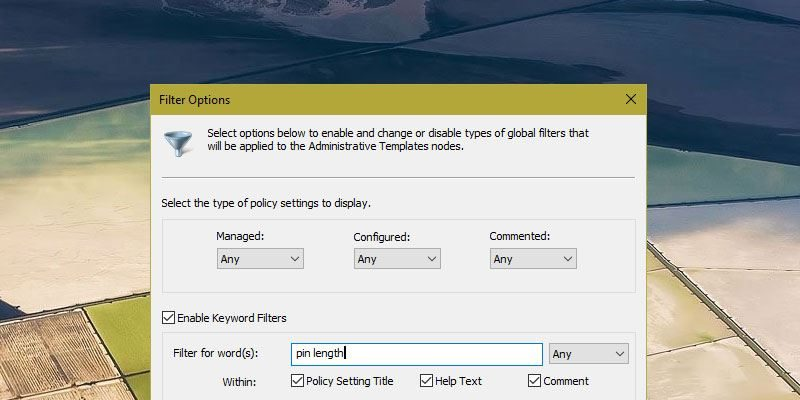How to Search Group Policy for a Specific Setting in Windows