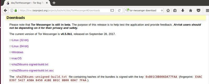 Download Tor Messenger