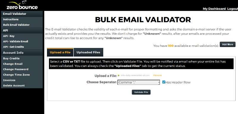 zerobounce-bulk-email-validator