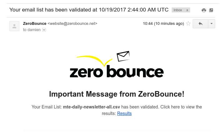 zerobounce-email-notification