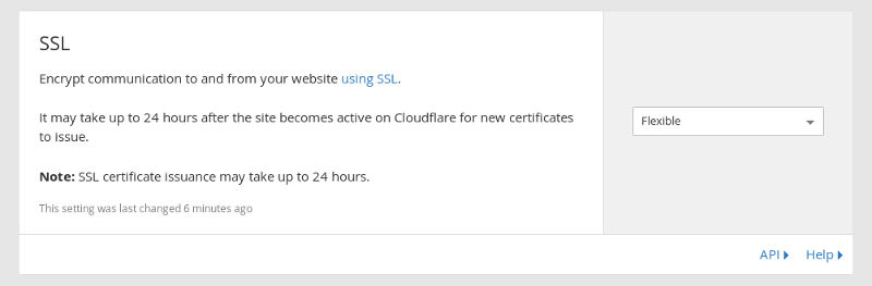 CloudFlare Flexible SSL Cert