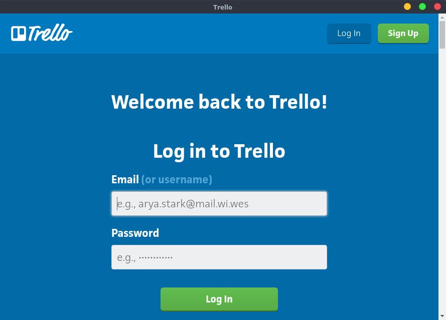 Trello Linux Client