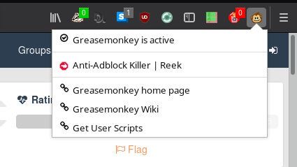 Anti-Adblock Killer Installed on Greasemonkey