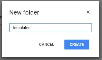 google-template-folder-name