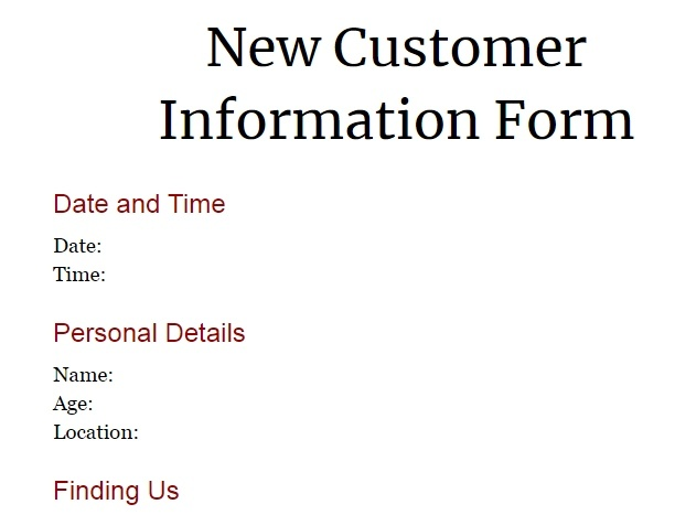 google-template-form