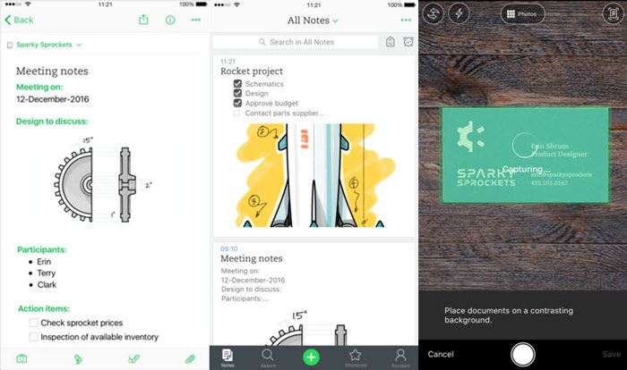 best-ios-note-taking-app-2018-evernote