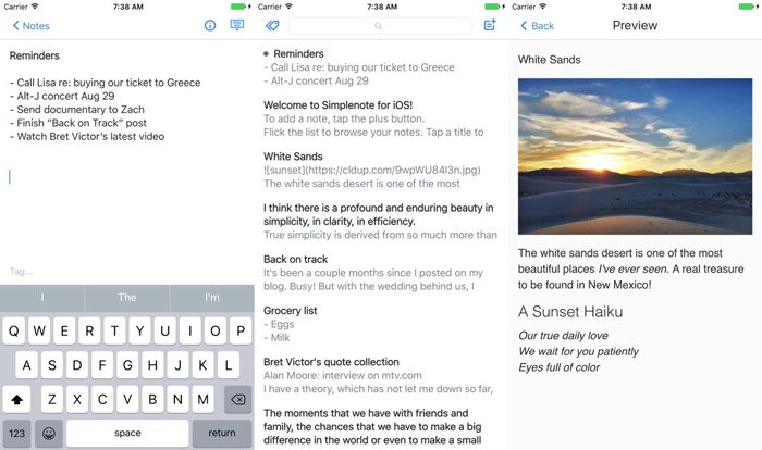 best-ios-note-taking-app-2018-simplenote