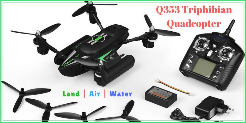WLtoys Q353 Triphibian Quadcopter - Review and Giveaway
