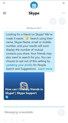 how to delete skype conversation with one person windows 10