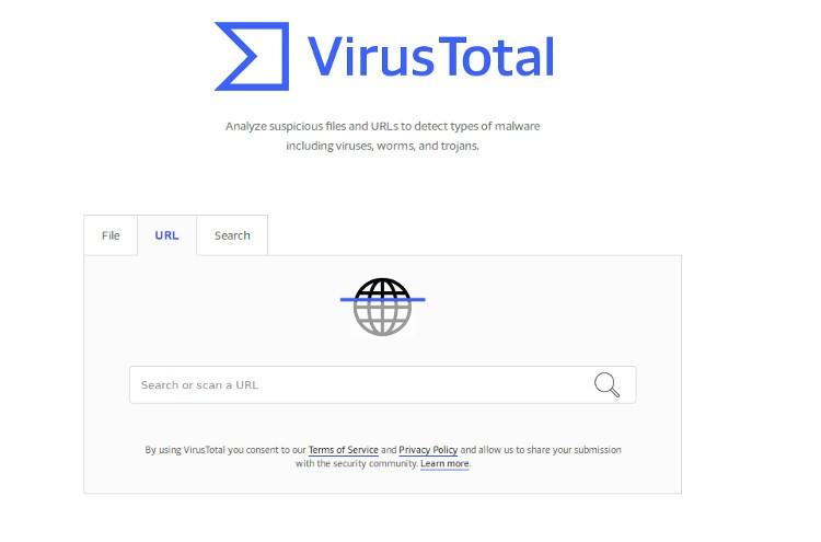 Screenshot of Virus Total