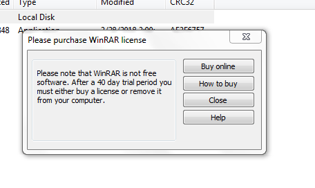 send-executable-files-by-email-found-winrar-dialog