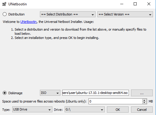 create-bootable-ubuntu-usb-unetbootin-settings