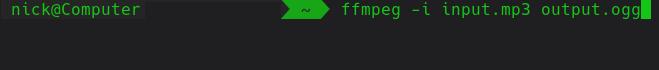 Convert Audio FFMEPG