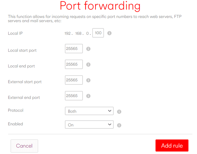 how-to-forward-port-on-router-virgin-settings
