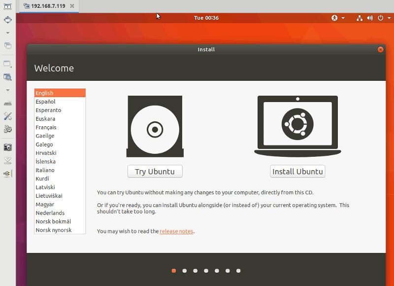 Install Ubuntu over VNC